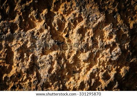 The texture of volcanic stone - stock photo