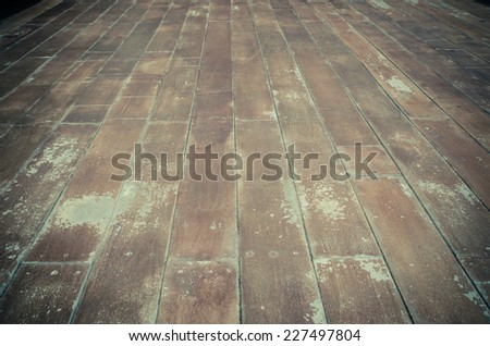 the texture of wooden boards floor - stock photo