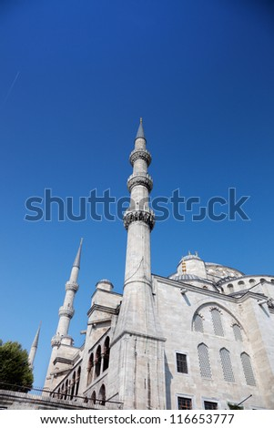 The 17th century Sultan Ahmed Mosque, better known in the West as the Blue Mosque. Istanbul. Turkey.
