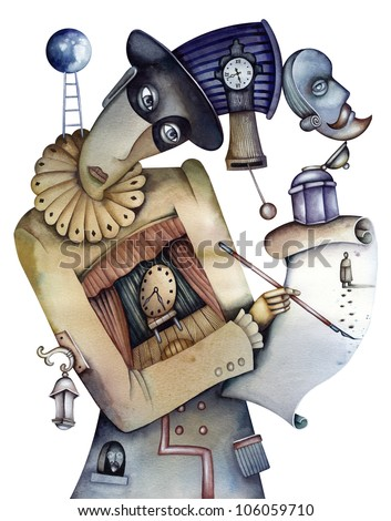 The theater illustration. Illustration by Eugene Ivanov. - stock photo