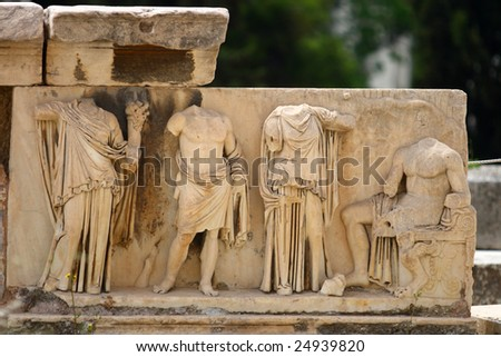 The Theater of Dionysus on acropolis in athens - stock photo