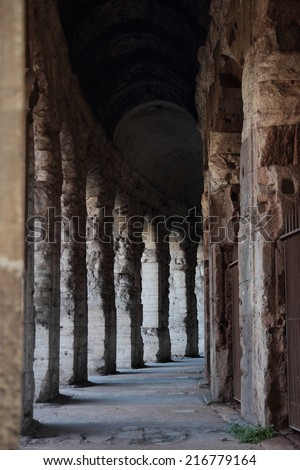 The Theatrum of Marcellus, ancient open-air theater in Rome, Italy - stock photo