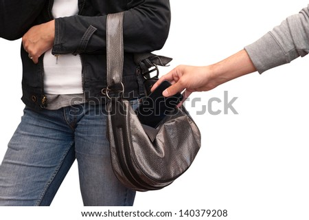 the theft - stock photo