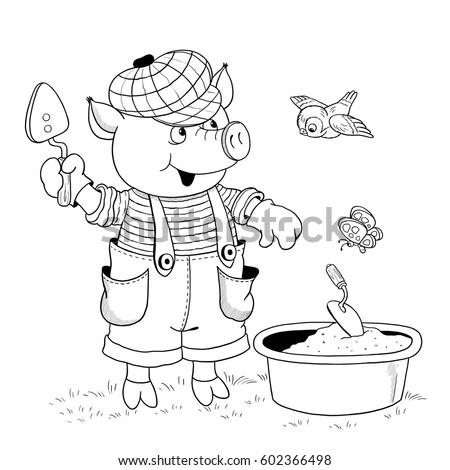 Illustration For Children Coloring Book