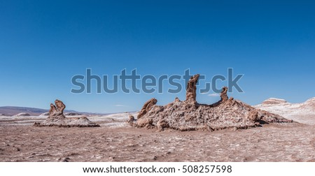 The Three Marys in Valley of the Moon, Atacama Desert Chile