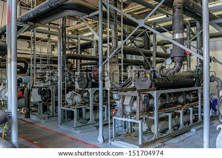 The three refrigeration units - stock photo