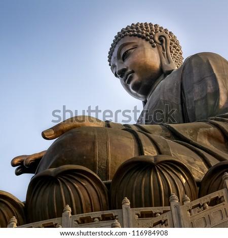 The Tian Tan Big Buddha in Hong Kong - stock photo
