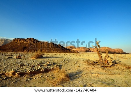 The Timna Valley - historical area is rich in copper ore,  the southwestern Arabah, Israel. - stock photo