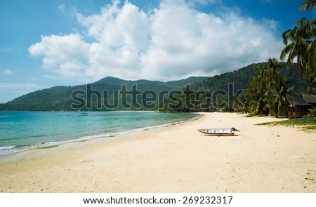 the Tioman island beach in Malaysia, peace and joy