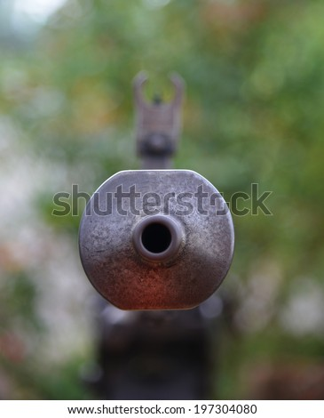 The tip of antique guns - stock photo