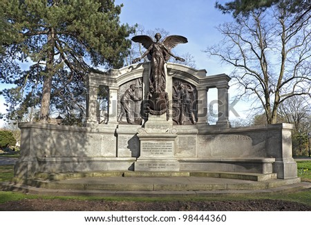 The Titanic Engineers Memorial in Southampton, UK. The Titanic sank on it's maiden voyage from Southampton to New York, April 15th 1912. 2012 marks the centenary of the event. - stock photo