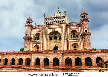 The Tomb of Safdarjung in New Delhi, India - stock photo
