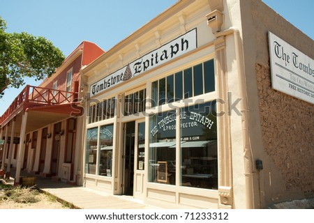 The Tombstone Epitaph building - stock photo