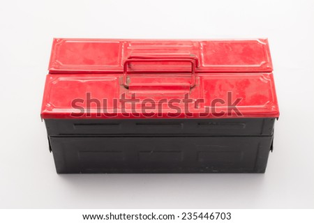 The tool box isolated on white background