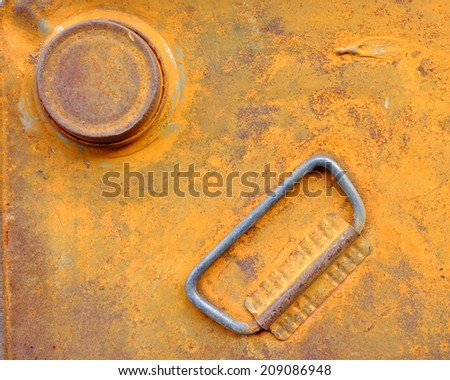 The top of the fuel tank old. - stock photo