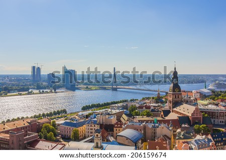 The top view of Riga - stock photo
