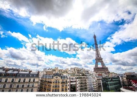 the tour eiffel in Paris - stock photo