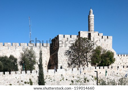 The Tower of David is an ancient citadel - stock photo