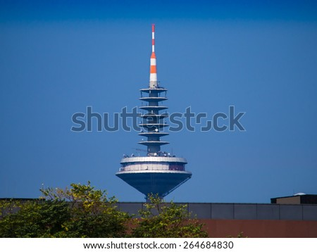 The Tower of Europe, Europaturm, in Frankfurt, Germany - stock photo