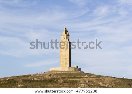The Tower of Hercules is the oldest lighthouse in operation in the world, dates from the first century after Christ