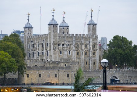 The Tower of London - amazing view - LONDON / ENGLAND - SEPTEMBER 23, 2016