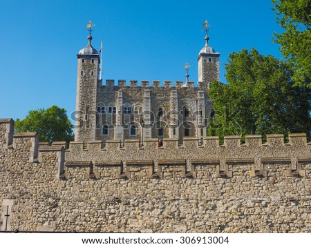 The Tower of London in London, UK