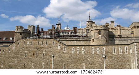 The Tower of London, medieval castle and prison