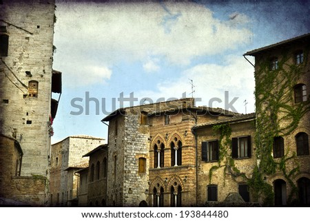 The towers of San Gimignano, Siena, Italy