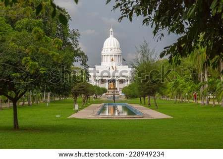 The Town Hall of Colombo is the headquarters of the Colombo Municipal Council and the office of the Mayor of Colombo. - stock photo