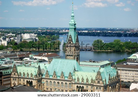The Town hall of Hamburg (Germany) - stock photo