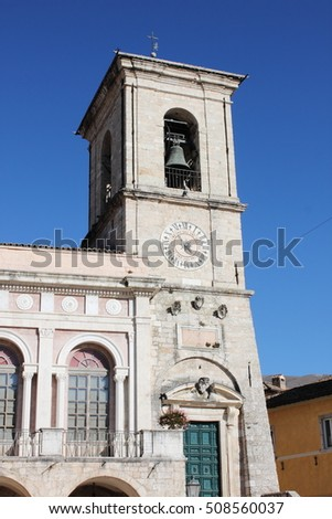 The Town Hall of Norcia. Umbria, Italy