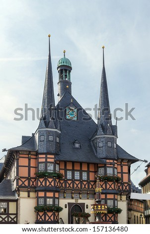 The town hall �¢?? one of the most known monuments of architecture in Germany, is a symbol to Wernigerode