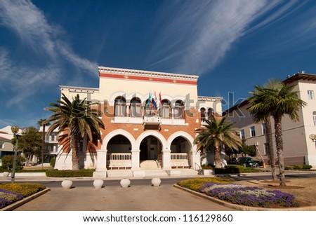 the town halle in city Porec - Croatia - stock photo