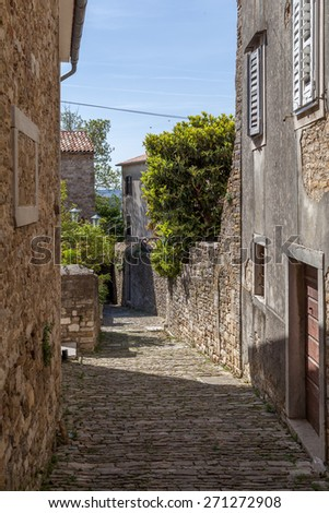 The town Motovun - Istria - Croatia - stock photo