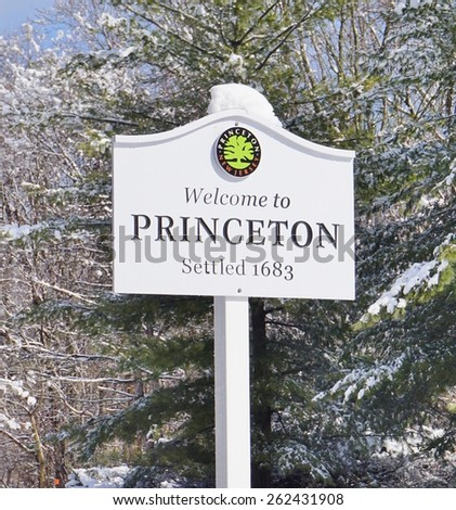 The town of Princeton, New Jersey, home to Princeton University  - stock photo