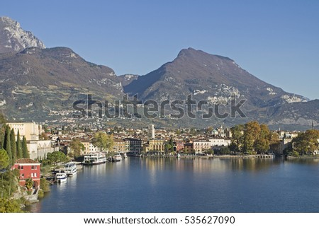 The town of Riva is picturesquely situated on the north shore of Lake Garda