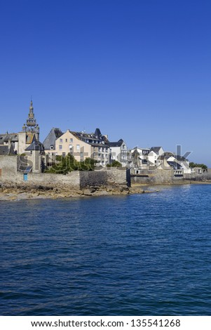 the town of Roscoff in coast of the north of France