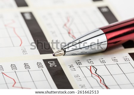 The tracking chart of trading on the stock exchange