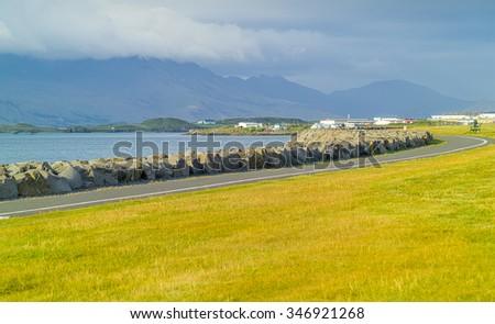 The traditional Icelandic landscape - Iceland - stock photo