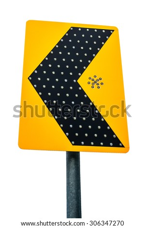 the traffic signpost isolated on white background - stock photo