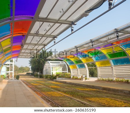 The train station - stock photo