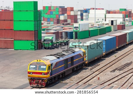 The train was carrying containers