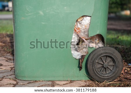 The trash broken malfunctioning  - stock photo