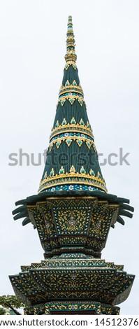 The tray design at Wat Prakaw, Bangkok, Thailand. - stock photo