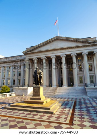 The Treasury Building in Washington, D.C., USA - stock photo