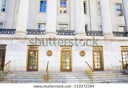 The Treasury Department in Washington DC - stock photo