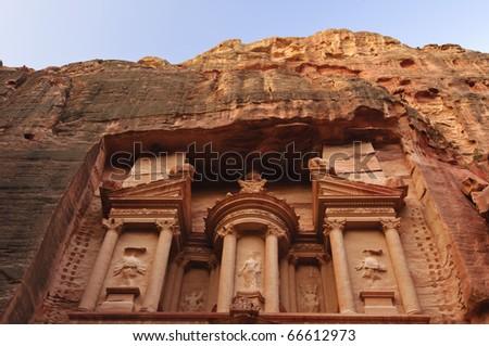 The Treasury (El Khazneh). Petra, Jordan - stock photo
