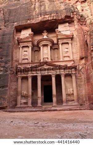 The Treasury in Petra - stock photo
