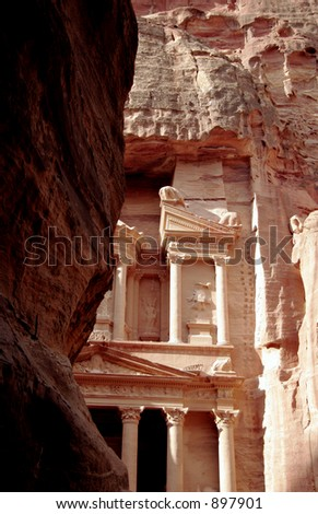 The Treasury of Petra, Jordan