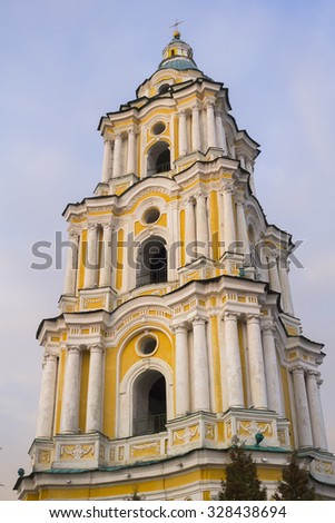 The Trinity Cathedral bell tower in Chernigov, Ukraine - stock photo